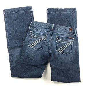 7 For All Mankind Dojo Jeans Sz 28 Thick Stitch
